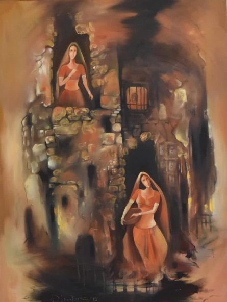 Durshit Bhaskar | Oil Painting title Portraits of Devotion on Canvas | Artist Durshit Bhaskar Gallery | ArtZolo.com