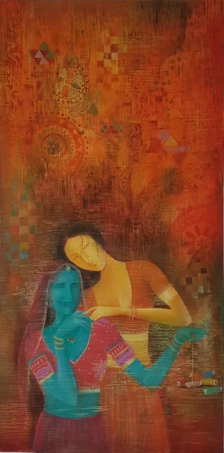 Bond | Painting by artist Durshit Bhaskar | oil | Canvas