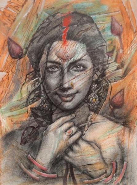 Eternal Beauty 2   Painting by artist Darshan Sharma   oil   Canvas