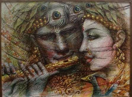 Radha Krishna II | Painting by artist Darshan Sharma | oil | Canvas