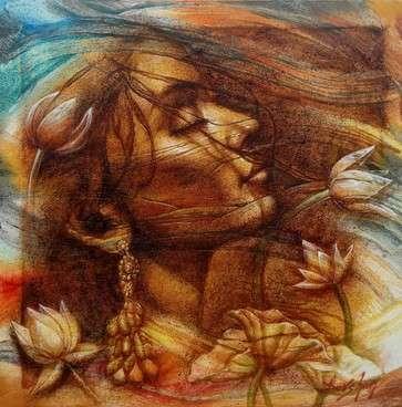 Eternal Beauty 5 | Painting by artist Darshan Sharma | oil | Canvas