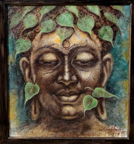 Gautama Buddha 2 | Painting by artist Darshan Sharma | oil | Canvas