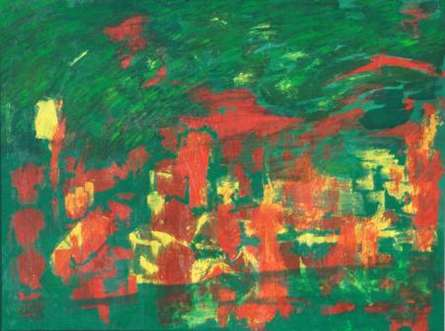 Prakash Bal Joshi | Mixed-media Painting title Floating Party on Canvas | Artist Prakash Bal Joshi Gallery | ArtZolo.com