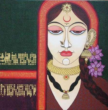 Face 13 | Painting by artist Varsha Kharatamal | acrylic | Canvas