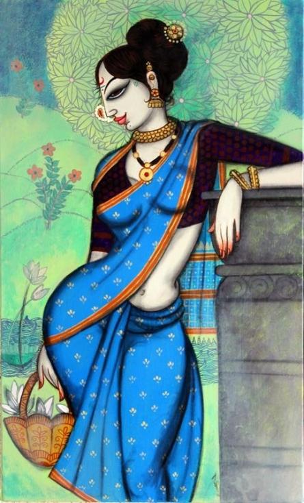 Rhythmic Beauty 3 | Painting by artist Varsha Kharatamal | acrylic | Canvas