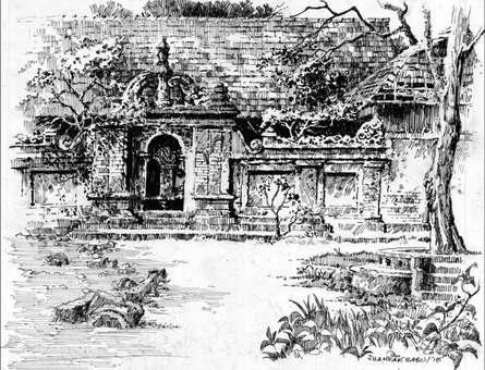 Scenic Pen Art Drawing title 'The Entrance' by artist Sankara Babu