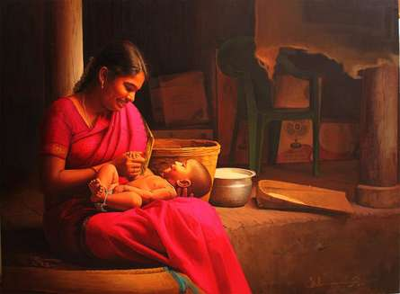 Love | Painting by artist S Elayaraja | oil | Canvas