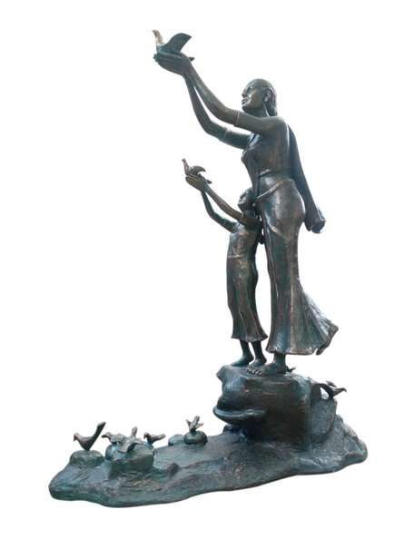 Bronze Sculpture titled 'Freedom Of Life' by artist Asurvedh Ved