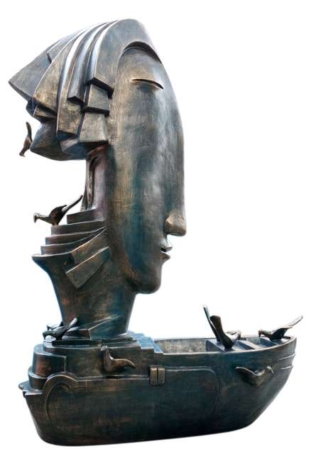Bronze Sculpture titled 'Joy Full Mood 3' by artist Asurvedh Ved