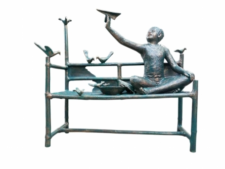 Bronze Sculpture titled 'Joy Of Life' by artist Asurvedh Ved