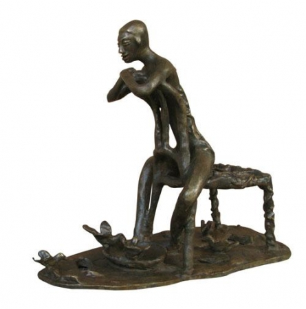 Joyful Mood I | Sculpture by artist Asurvedh Ved | Bronze