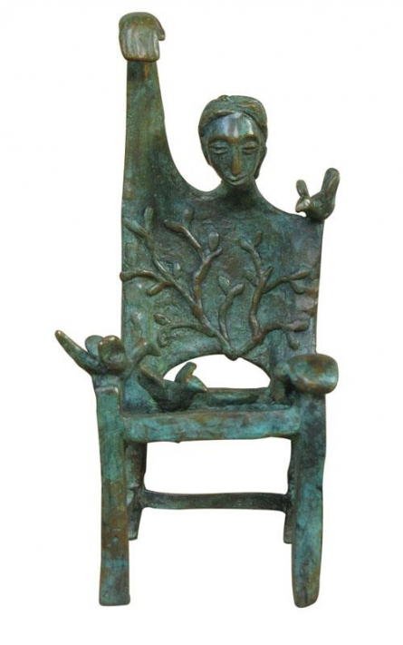 Memorable Chair | Sculpture by artist Asurvedh Ved | Bronze