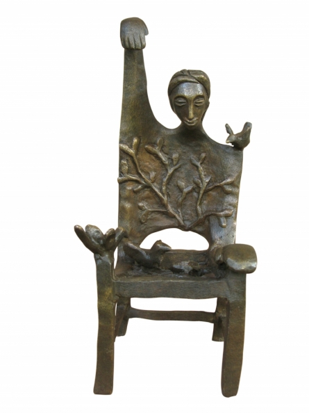 Asurvedh Ved | Memorable Chair 1 Sculpture by artist Asurvedh Ved on Bronze | ArtZolo.com
