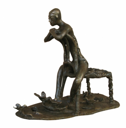 Asurvedh Ved   Save Nature Sculpture by artist Asurvedh Ved on Bronze   ArtZolo.com