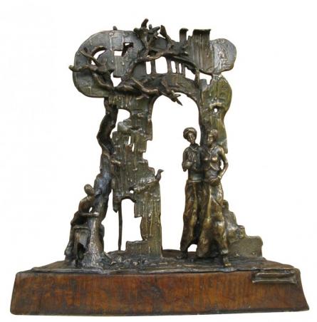 Sonnte Bronze | Sculpture by artist Asurvedh Ved | Bronze