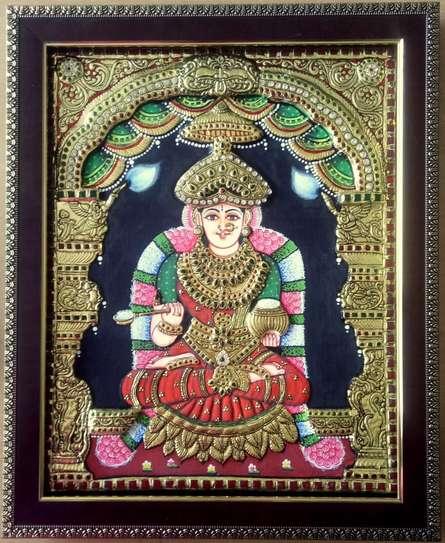 Goddess Annapurna Tanjore Painting   Painting by artist VANI VIJAY   other   Wood