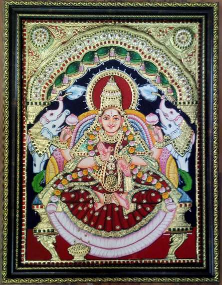 Lakshmi Tanjore Painting | Painting by artist VANI VIJAY | other | Wood