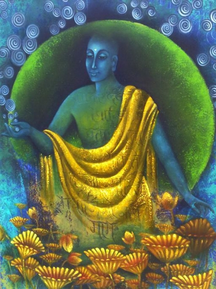 Monk I | Painting by artist Vijaya Ved | oil | Canvas