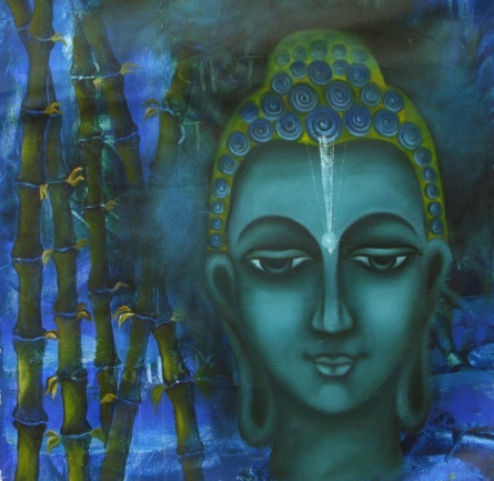Searching Of Life IV | Painting by artist Vijaya Ved | oil | Canvas