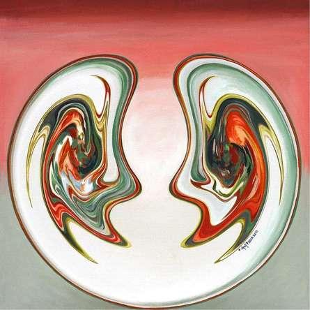 Abstract Acrylic Art Painting title Guhya Samvad by artist Atul Padia