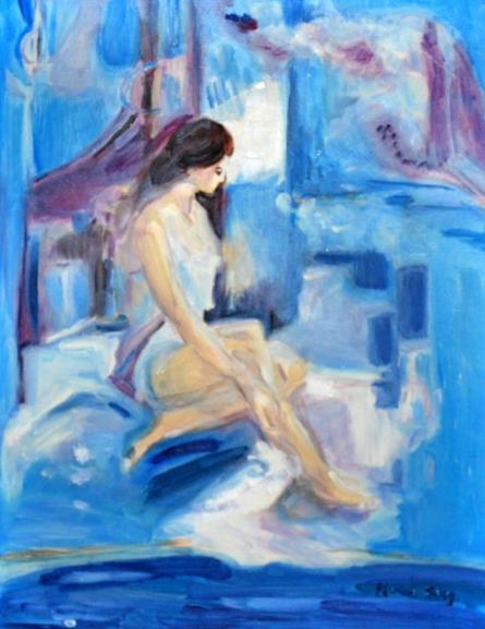 Blues | Painting by artist Marina Berg | oil | 14 on 11