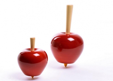 Apple Wooden Tops set of 3   Craft by artist Vijay Pathi   wood
