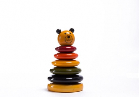 Vijay Pathi | Bonobo Stacking Wooden Toy Craft Craft by artist Vijay Pathi | Indian Handicraft | ArtZolo.com