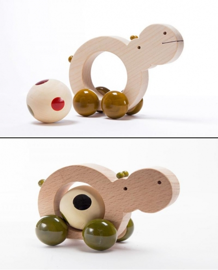 Chippo Pull Along Wooden Toy | Craft by artist Oodees Toys | wood