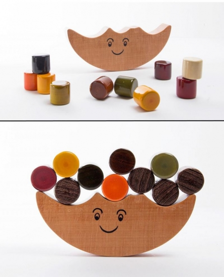 Oodees Toys | Dumroo Balancing Wooden Toy Craft Craft by artist Oodees Toys | Indian Handicraft | ArtZolo.com