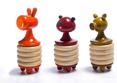 Jupiter Set Of 3 Wooden Rattles | Craft by artist Vijay Pathi | wood