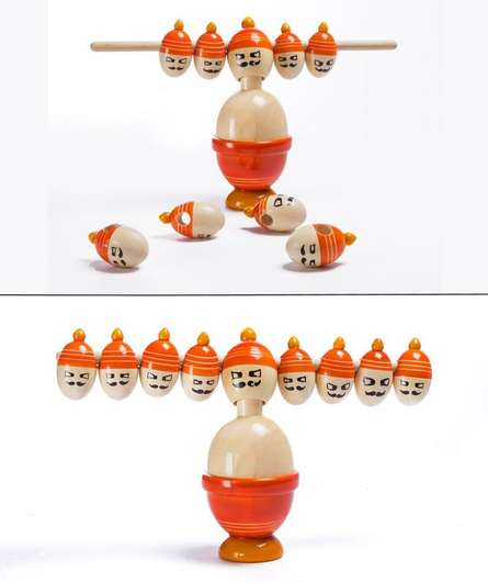 Ravana Balancing Wooden Toy | Craft by artist Oodees Toys | wood
