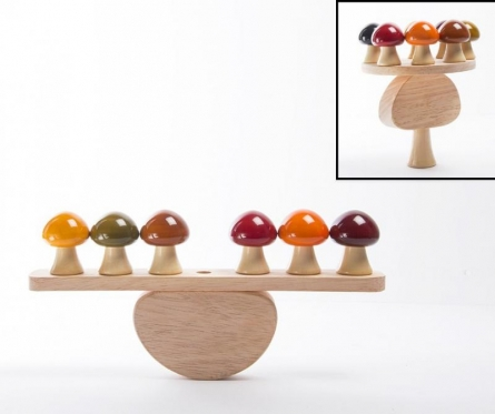 Oodees Toys | Topsy Turvy Balancing Wooden Toy Craft Craft by artist Oodees Toys | Indian Handicraft | ArtZolo.com