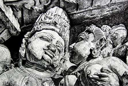 Temple Sculptre | Painting by artist SRV ARTIST | other | Canson Paper