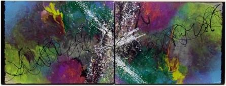 "Abstract ""Colors Of Music"" | Painting by artist Parineeta Goenka | acrylic | Canvas Board"