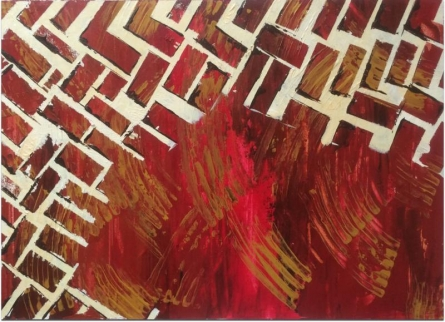 "Abstract ""Fearless Brick"" 