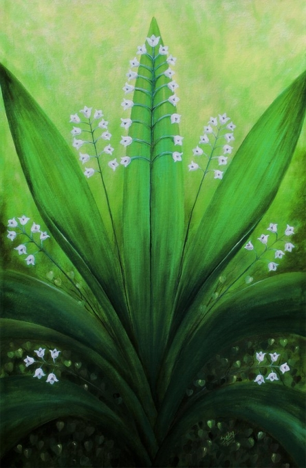 Natures Symmetry | Painting by artist Seby Augustine | acrylic | Canvas