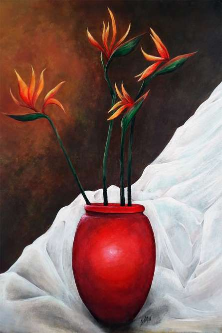 Lovely Life | Painting by artist Seby Augustine | acrylic | Canvas
