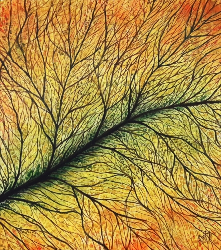 Intricate | Painting by artist Seby Augustine | acrylic | Canvas