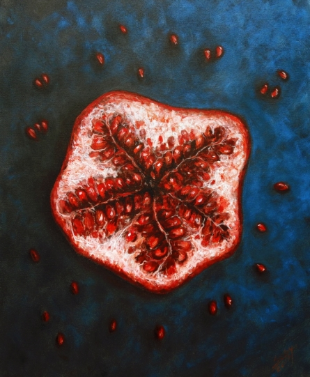Fruit | Painting by artist Seby Augustine | acrylic | Canvas