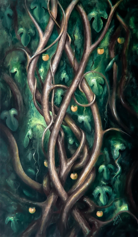 Nature | Painting by artist Seby Augustine | acrylic | Canvas