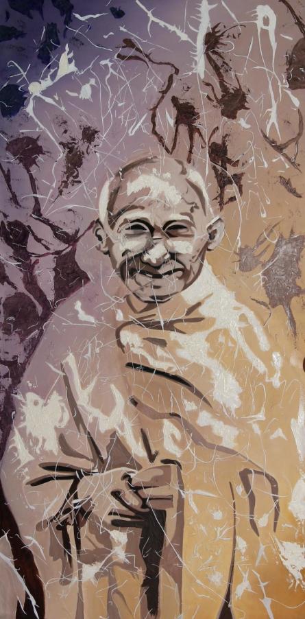 A tribute   Painting by artist Gunjan Adya   oil   Canvas