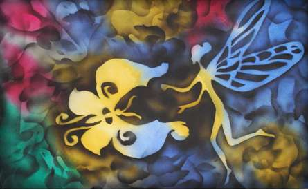 Mixed Media Painting titled 'Butterfly Series' by artist Sripad Kulkarni on Canvas
