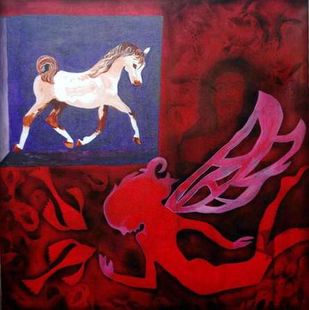 Sripad Kulkarni | Horse Series Mixed media by artist Sripad Kulkarni on Canvas | ArtZolo.com