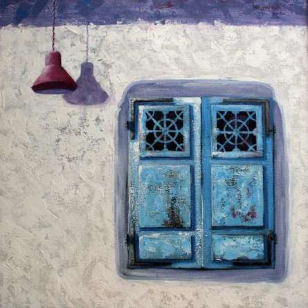 Window 02 | Painting by artist Tushar Patange | acrylic | Canvas