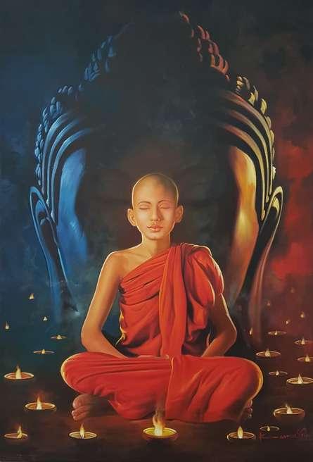 Guru | Painting by artist Kamal Rao | oil | Canvas