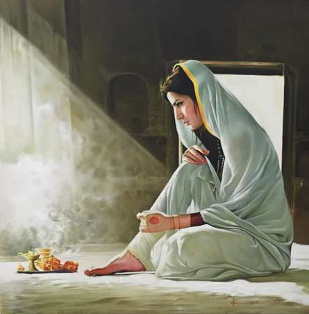 Serenity | Painting by artist Kamal Rao | oil | Canvas