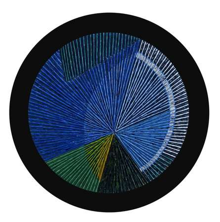 Circular Geometrism - Blue | Painting by artist Sandesh Khule | acrylic | Canvas