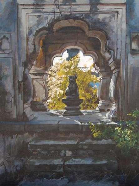Nandi | Painting by artist Sachin Sawant | oil | Canvas
