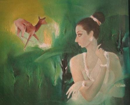 Maya | Painting by artist Joychandra Sharma | mixed-media | Canvas