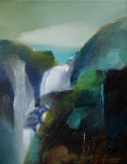 Landscape | Painting by artist Joychandra Sharma | acrylic | Canvas